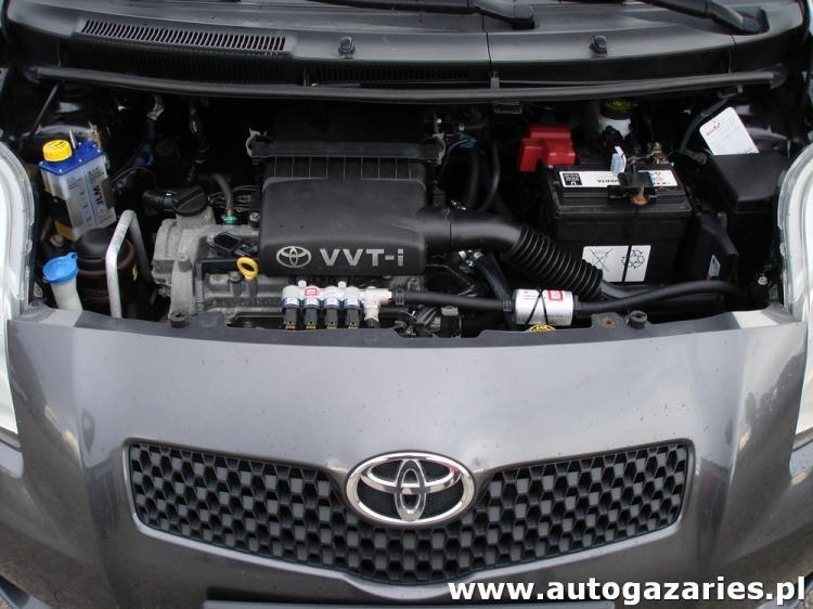 Inteligentny Toyota Yaris 1.3 VVTi 86KM ( II gen. ) - Auto Gaz Aries - montaż SP89